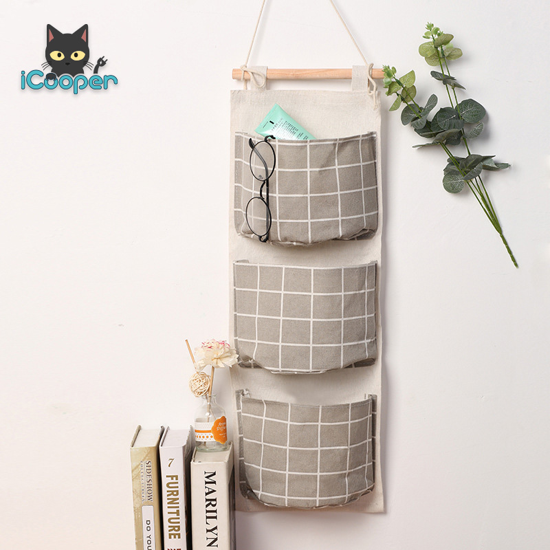 Cotton Hanging Bag (Grey)