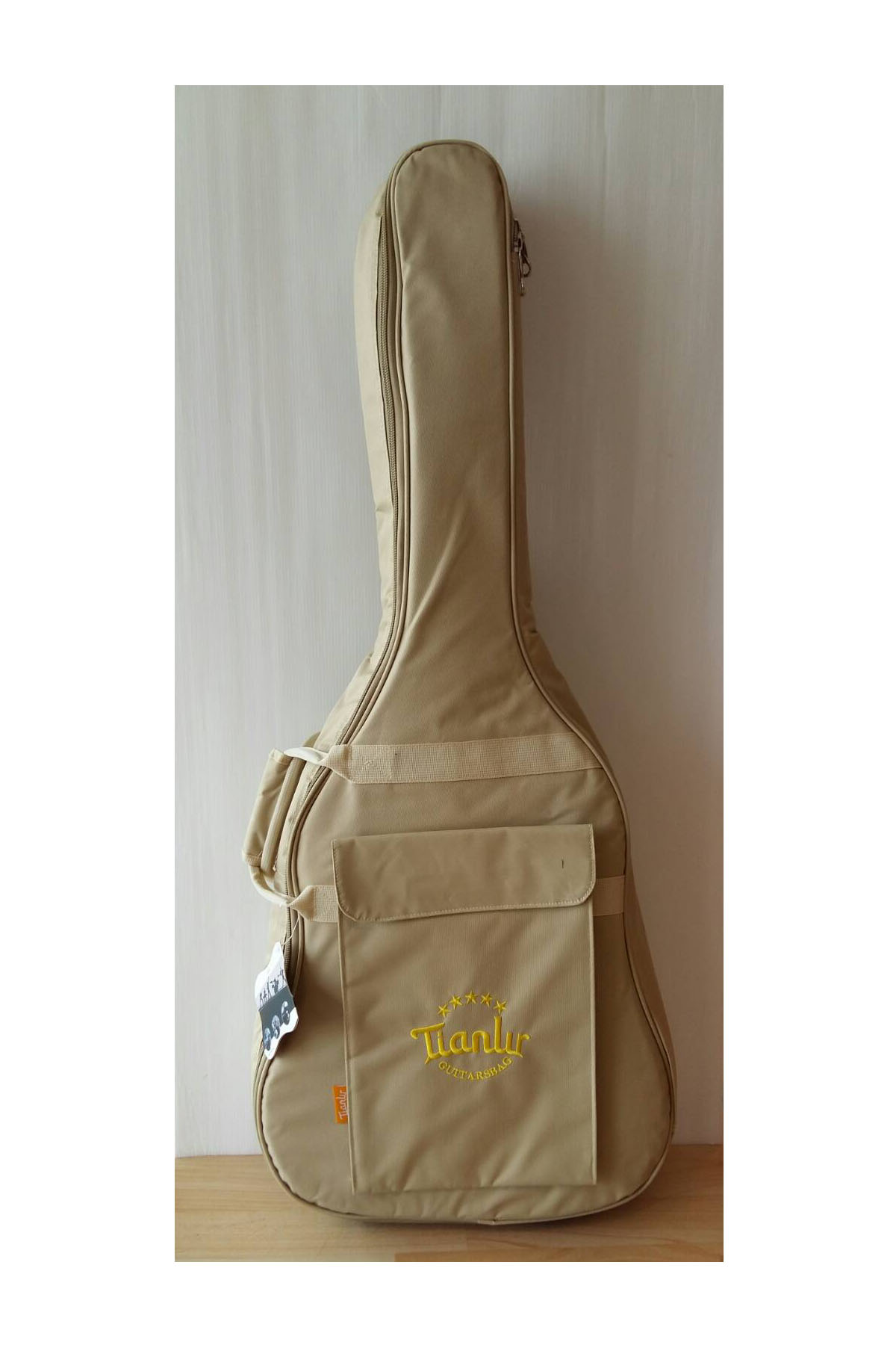 กระเป๋ากีตาร์อย่างหนา Tianlur สีครีม