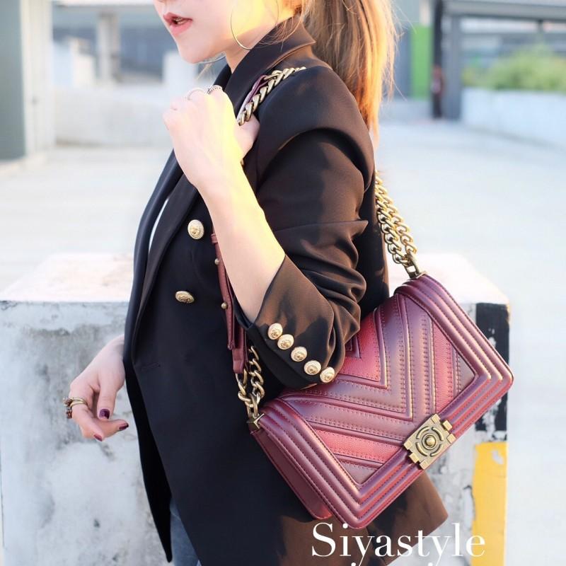 พร้อมส่ง กระเป๋าสะพายข้างผู้หญิง New CN BOY 10นิ้ว [สีแดง ]