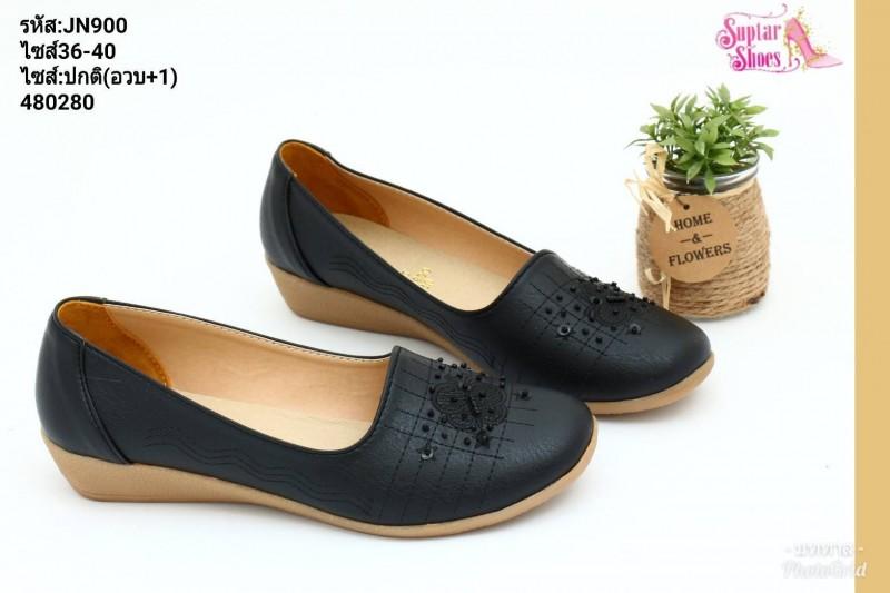 พร้อมส่ง รองเท้าคัชชูลำลองเพื่อสุขภาพ JN900-BLK [สีดำ]