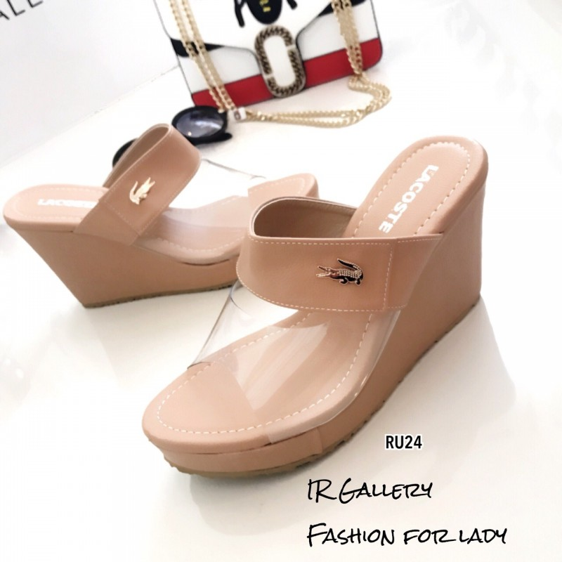 รองเท้าเตารีดหน้าใสจระเข้ RU24-ครีม (สีครีม)