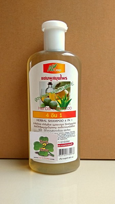 แชมพูสมุนไพร 4 in 1 สูตรพิเศษ (400ml) 4 คุณค่าในหนึ่งเดียว มะกรูด + ว่างหางจระเข้ + น้ำมันงา + วิตามินอี แชมพูสมุนไพร Herbal ตราพบธรรม บำรุงรากผมนุ่มสวยมีชีวิตชีวา ดกดำยิ่งขึ้น