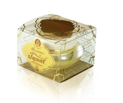 สีผึ้งเจลทอง บำรุงผิว มุมปาก รอบดวงตา ใบหน้า ปัญจศรี(เล็ก 8 กรัม) Gold Beewax Gel ทาลำคอและเนินอก ให้ชุ่มชื้นไม่แห้งแตกอ่อนโยนมาก ใช้แทนครีมรองพื้นก่อนแต่งหน้า ใช้ได้ทั้งกลางคืนและกลางวัน สูตรโบราณดั้งเดิม ที่เคี่ยว Beewax จนได้เนื้อนิ่มหนืด