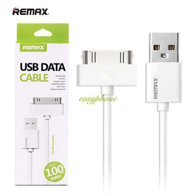 REMAX สายชาร์จ iphone 4 USB DATACable แท้100%