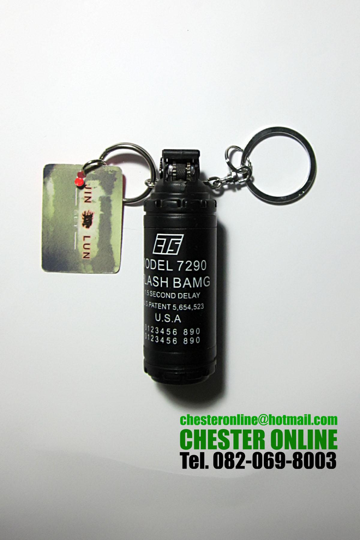 ไฟแช็คแก๊สแบบเปลวไฟแบบจำลองลูกระเบิด FLASH BAMG