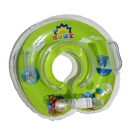 ห่วงยางคอเด็ก ห่วงยางคอทารกแสนน่ารัก (วงกลม) สีเขียว