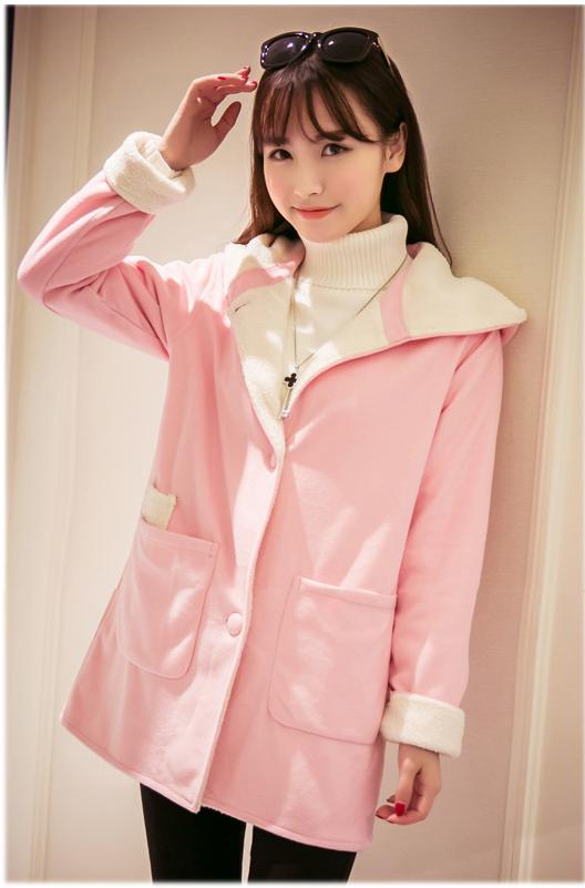 รับตัวแทนจำหน่ายเสื้อกันหนาวแฟชั่นเกาหลีสีชมพู