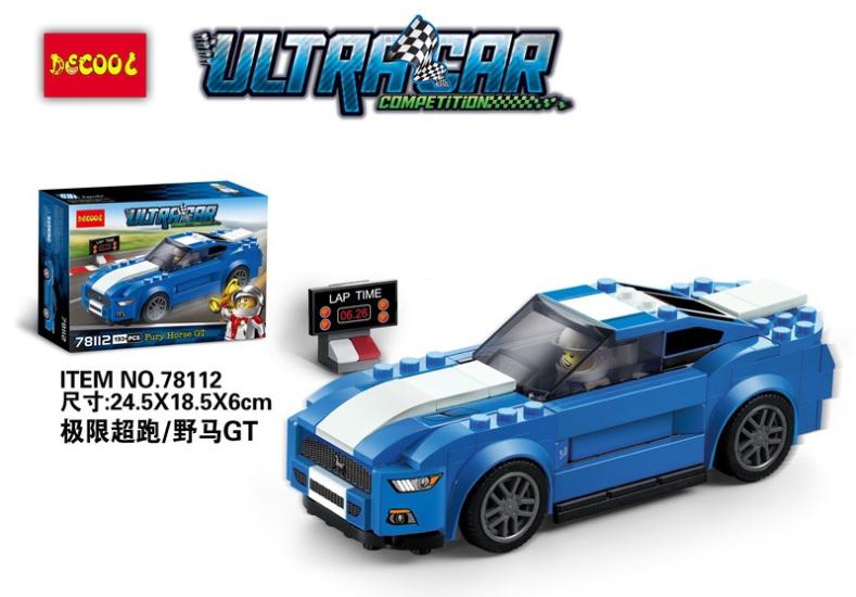 78112 ตัวต่อ UltraCar Compettition รถ Ford Mustang GT สีน้ำเงิน