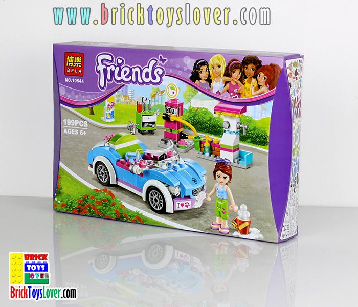 10544 ตัวต่อ Friends รถเปิดประทุน Super Car และสถานีจ่ายน้ำมัน