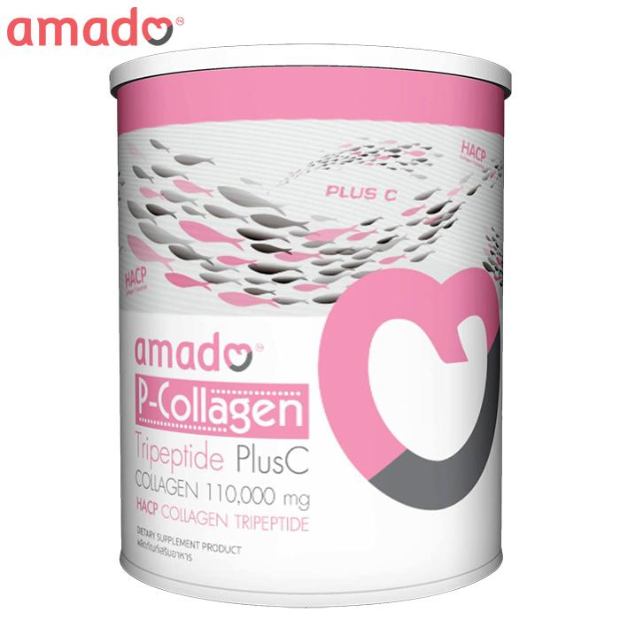 คอลลาเจน [Amado] P-Collagen Tripeptide Plus C 110,000 mg.