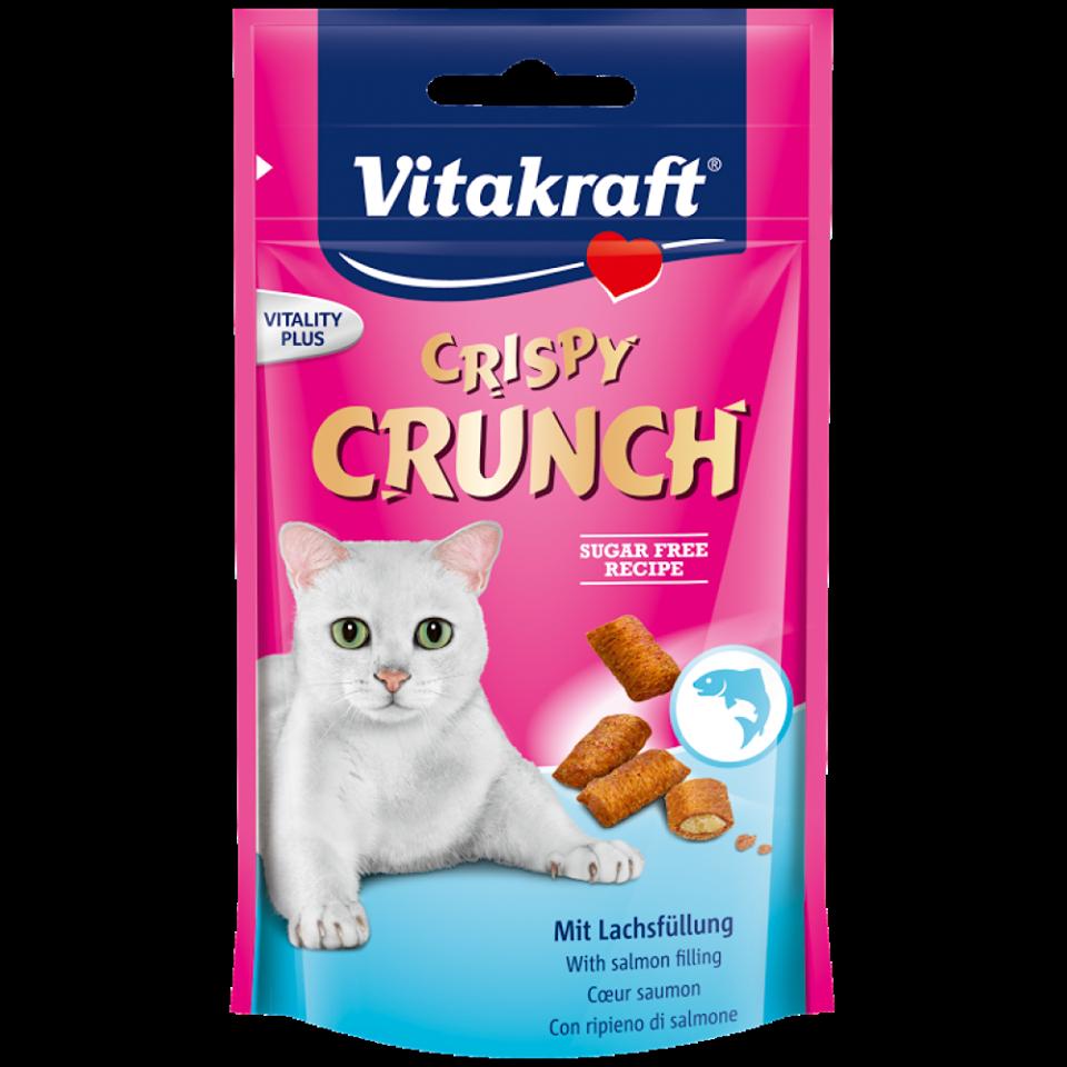Vitakraft ขนมแมวไวต้าคราฟ คริสปี้ครันซ์ กลิ่นแซลมอน กรอบนอกนุ่มใน (60g) หนึ่งโหล1180รวมส่ง