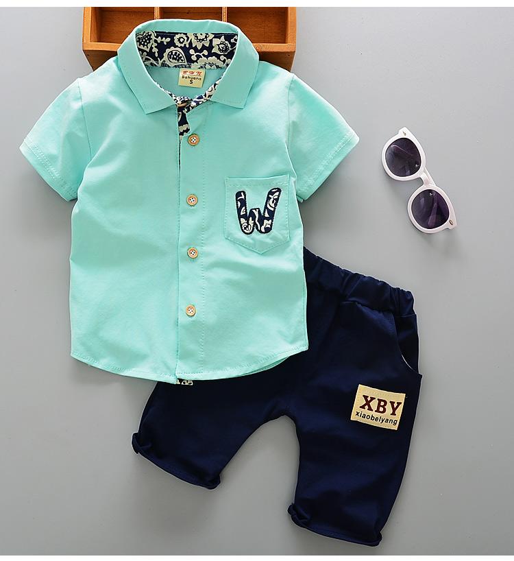 ชุดเด็กผู้ชาย เสื้อเชิ๊ต+กางเกง