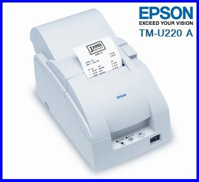 เครื่องพิมพ์ใบ เสร็จ เครื่องพิมพ์สลิปEPSON แบบหัวเข็ม เครื่องพิมพ์ด็อทเมตริกซ์ Dot Matrix Printer Epson TM-U220 A (ตัดกระดาษอัตโนมัติ สำเนากระดาษ)ราคารวมภาษีมูลค่าเพิ่มแล้ว