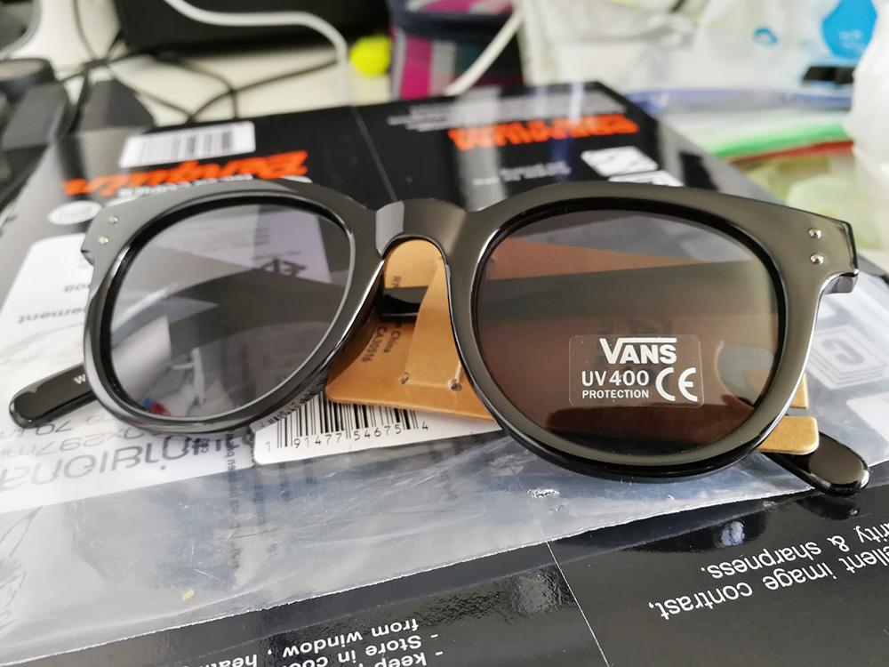 Vans Welborn Sunglasses - Black Gloss - หน้าแว่น