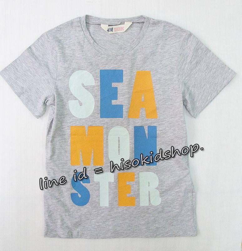 1773 H&M T-Shirt -Grey ขนาด 6-8 ปี