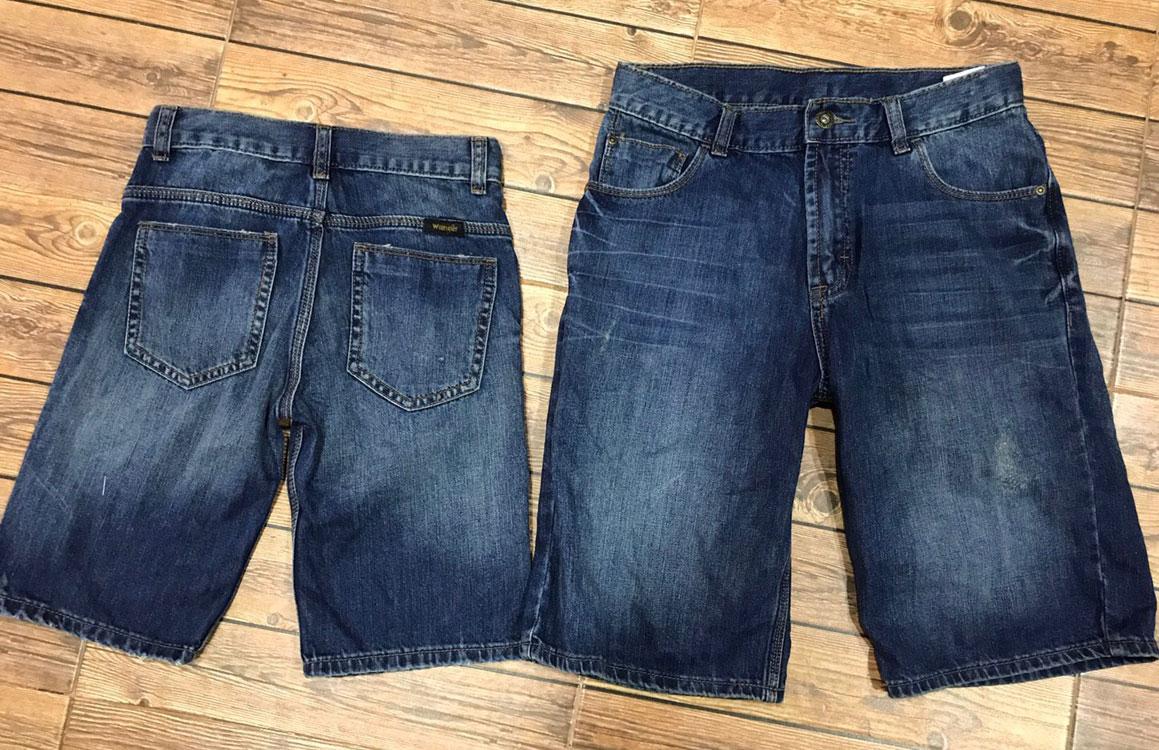 1965 Wrangler short Jeans - Blue ขนาด 10 ปี (ส่งฟรีลทบ.)