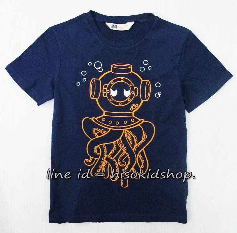1781 H&M T-Shirt -Navy Blue ขนาด 4-6,6-8 ปี