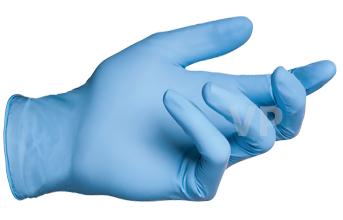 ถุงมือไนไตร (์Nitrile Gloves) สีฟ้า ลังละ 500 คู่ กล่องละ 145 บาท