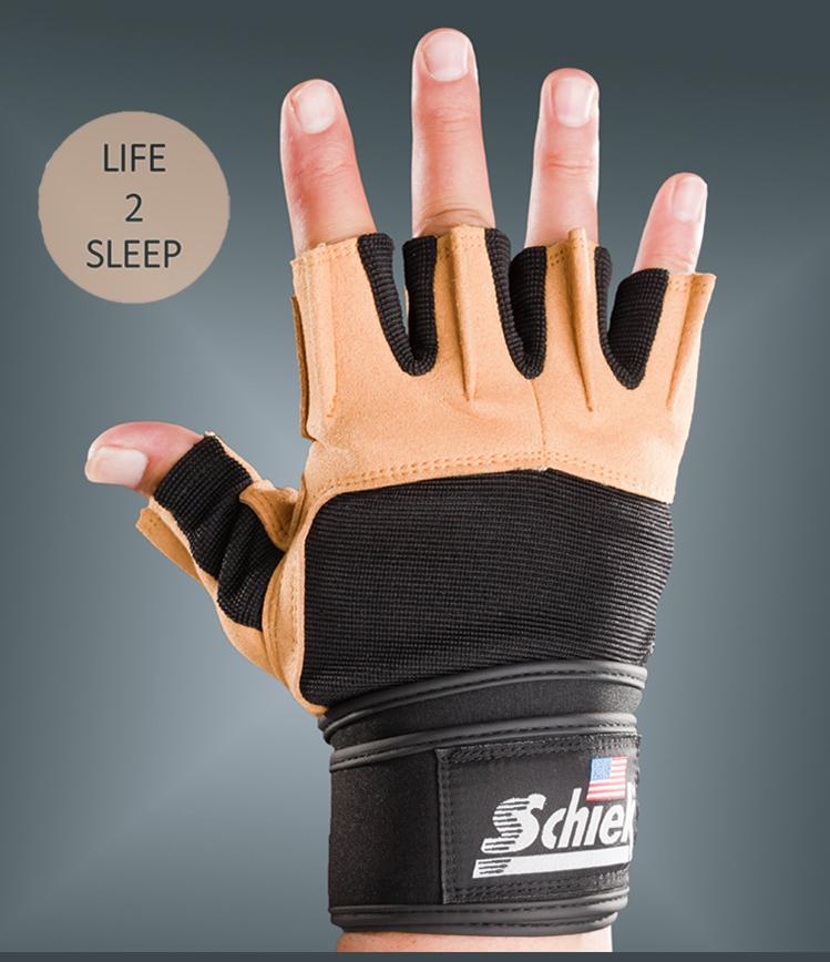 ถุงมือฟิตเนส Schiek สีน้ำตาล ไซส์ XL