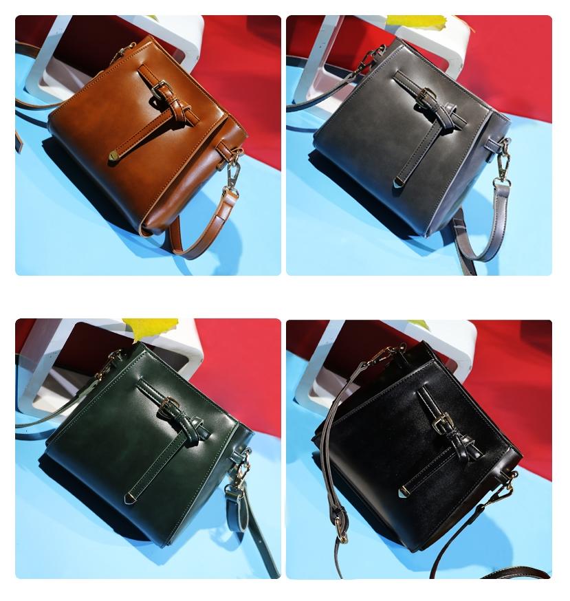 พร้อมส่ง กระเป๋าถือ กระเป๋าสะพายข้าง แบรนด์Beibaobao รุ่น B38163 (สีดำ สีน้ำตาล สีเขียว สีเทา)