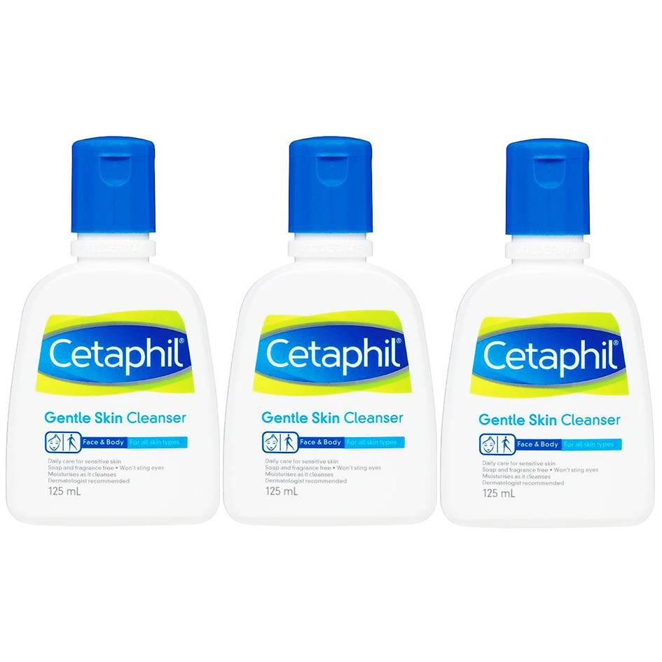 Cetaphil gentle skin cleanser 125 m (ซื้อ 3 ขวด)