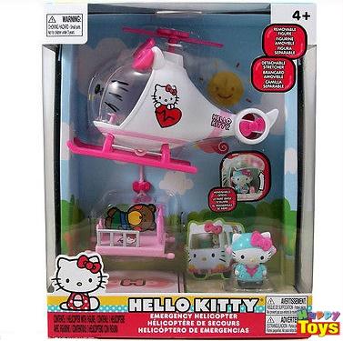 HELLO KITTY EMERGENCY HELICOPTER TOY PLAYSET คิตตี้ชุดนักกู้ภัย