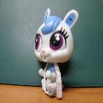 กระต่าย สีขาว-ฟ้า ตาสีม่วง
