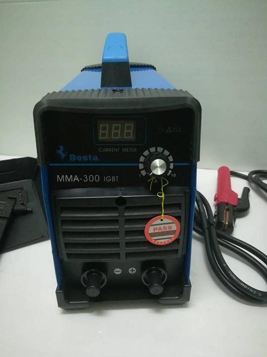 ตู้เชื่อมอินเวอร์เตอร์ MMA-300 BOSTA แถมฟรี สายเชื่อม หน้ากาก ด้ามเคาะแปลงลวด