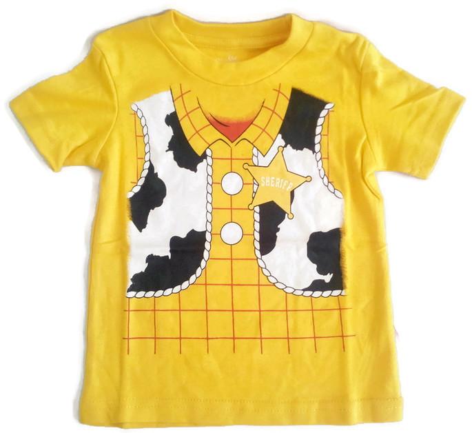 WD4 The Wonderful World Of Disney เสื้อยืดเด็ก แขนสั้น สีเหลือง Toy Story Cotton 100% Size 18M-3Y