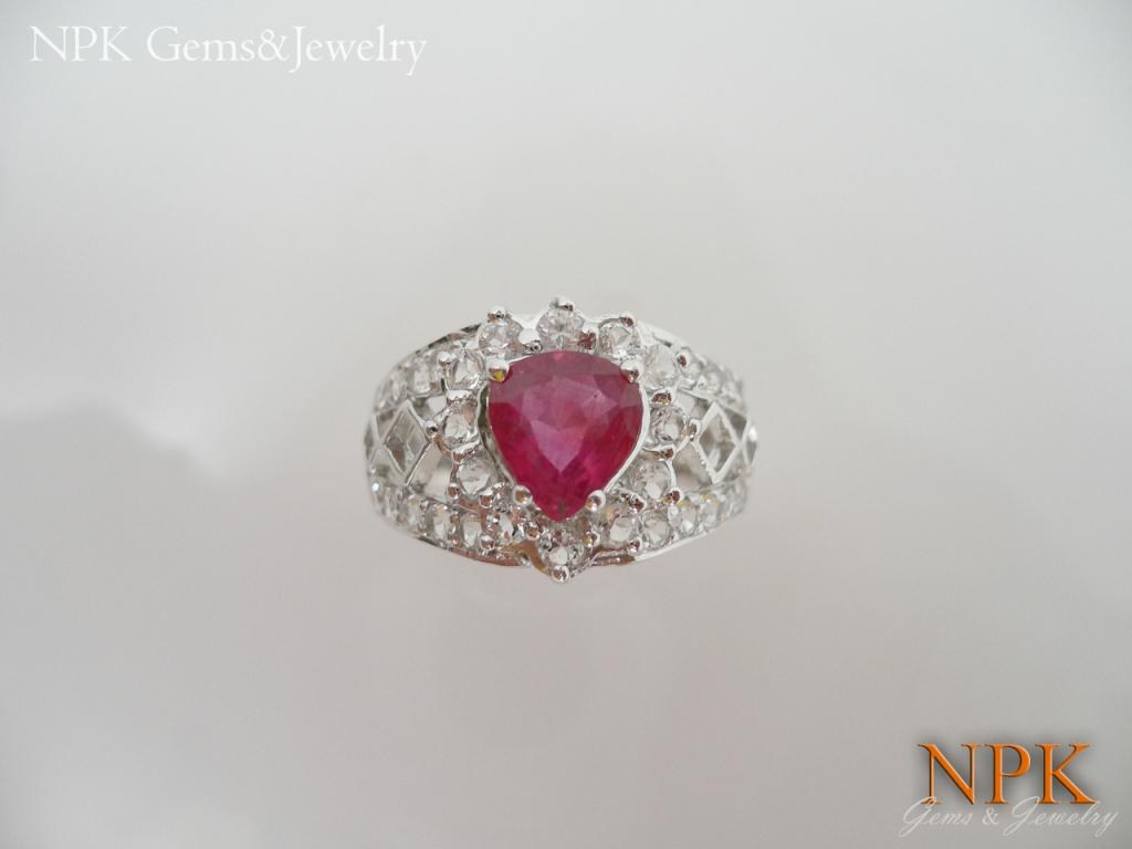 แหวนเงินทับทิม (Silver ring ruby)