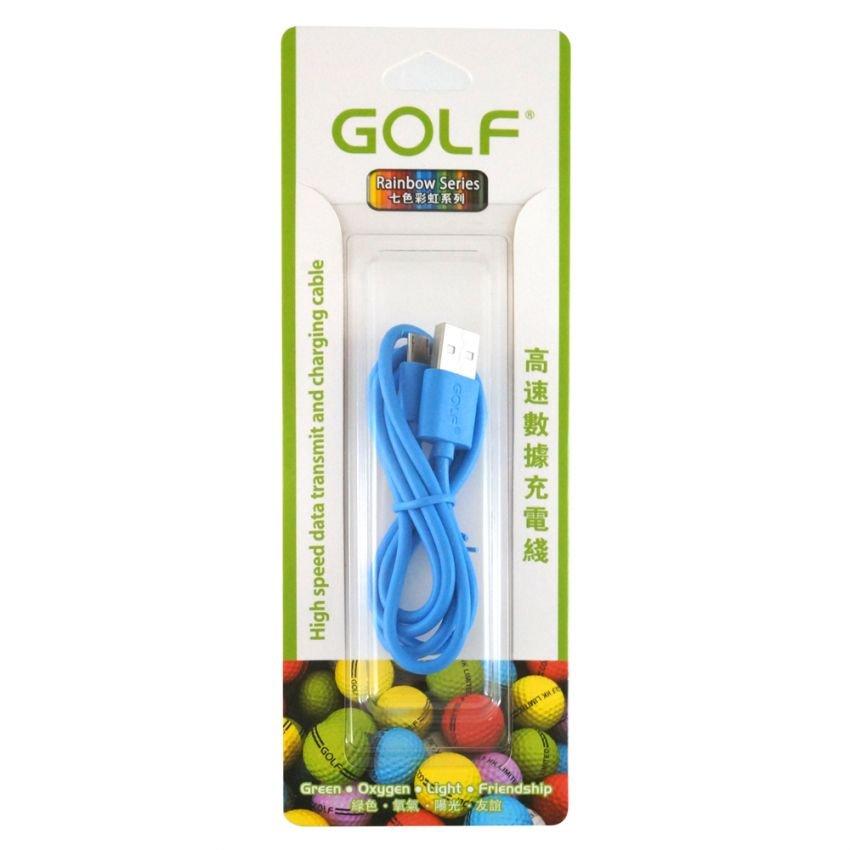 Golf สายชาร์จ Micro USB (Golf Micro USB Charging Cable) สีฟ้า