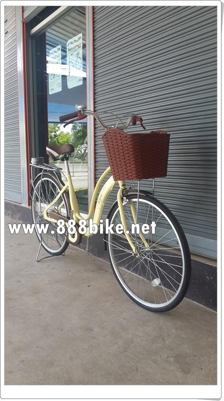 จักรยานแม่บ้าน Tiger hokkaido รุ่น ฮอกไกโด ล้อ 26 นิ้ว พร้อมตะกร้าวินเทจ (Single speed)