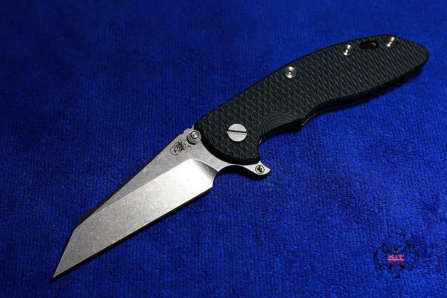 "RHK 3.5""Wharncliffe Fatty Blue/Black G-10"