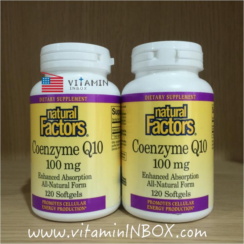 # คงความสาว # Natural Factors, Coenzyme Q10, 100 mg, 120 Softgels
