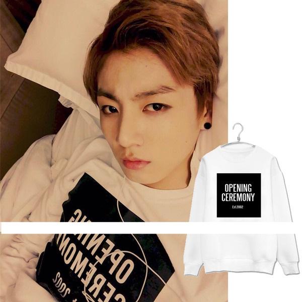 เสื้อฮูดแขนยาว เสื้อแฟชั่นเกาหลี BTS Jungkook SUGA