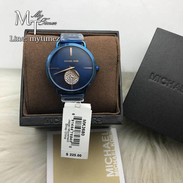 นาฬิกาข้อมือ MICHAEL KORS รุ่น Portia Crystallized Blue Steel Watch MK3680