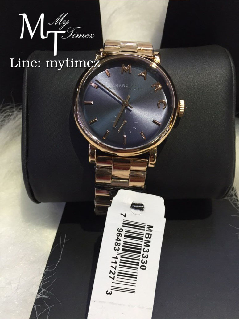 นาฬิกาข้อมือ Marc By Marc Jacobs รุ่น Baker Navy Dial Rose Gold-tone Steel Ladies Watch MBM3330