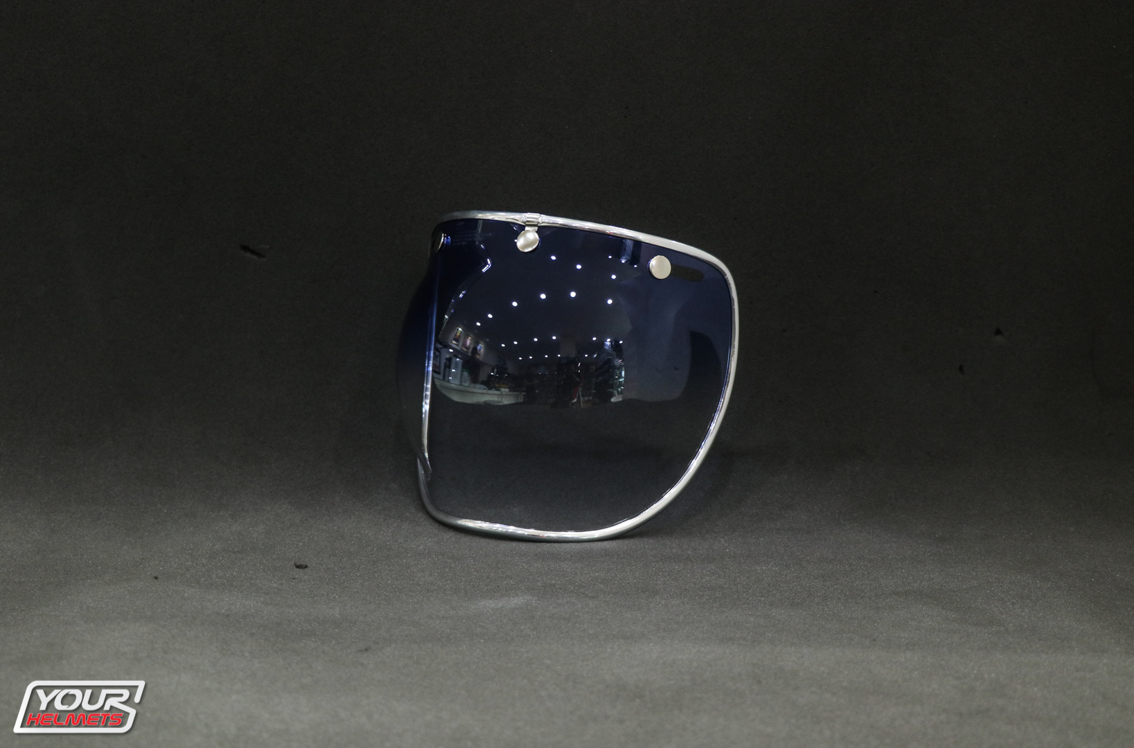 VISOR BELL 3-SNAP BUBBLE DELUXE SHIELD ICE BLUE