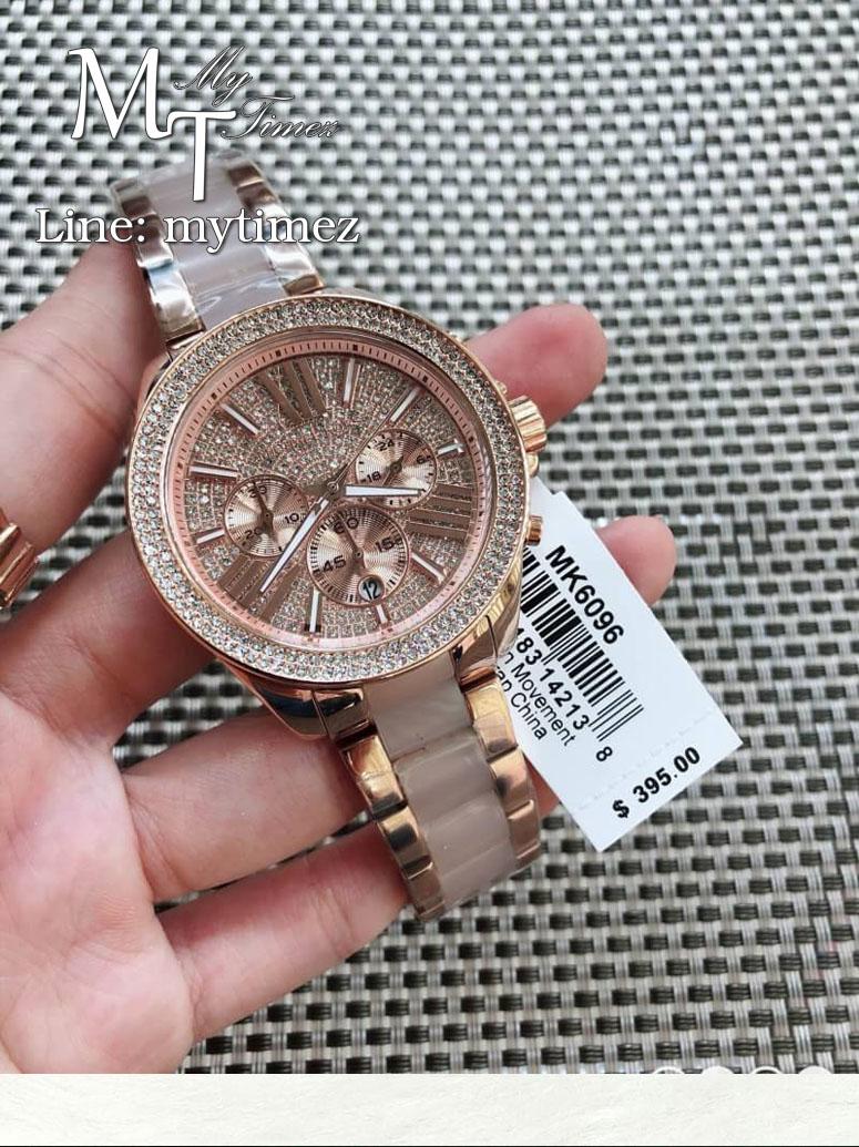 นาฬิกาข้อมือ MICHAEL KORS รุ่น Wren Crystal Pave Dial Chronograph Ladies Watch - MK6096