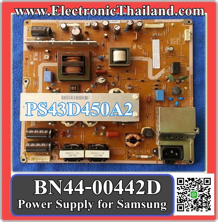 Power Supply for Samsung PlasmaTV PS43D450A2 BN44-00442D = BN44-00442B = BN44-00442A