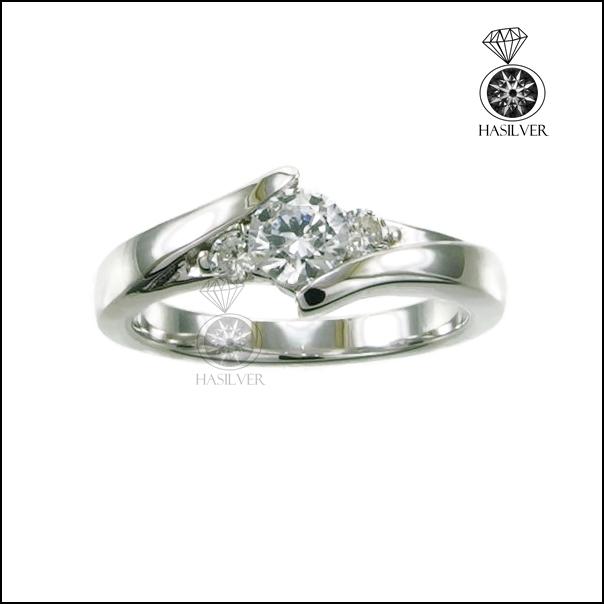แหวนเงินแท้ แหวนเพชรCZ แหวนเพชรรัสเซีย