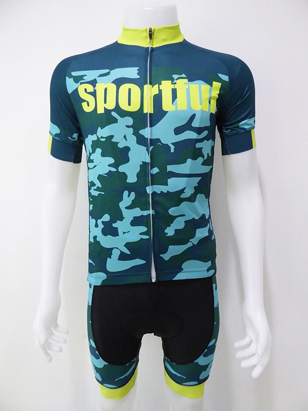 ชุดปั่นจักรยานสั้นปลายแขนและขาแบบเลเซอร์คัต Anti-Slip เอี๊ยม : XP170460