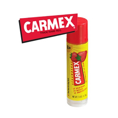 Carmex Lip Balm SPF15 #รส Strawberry แบบแท่ง