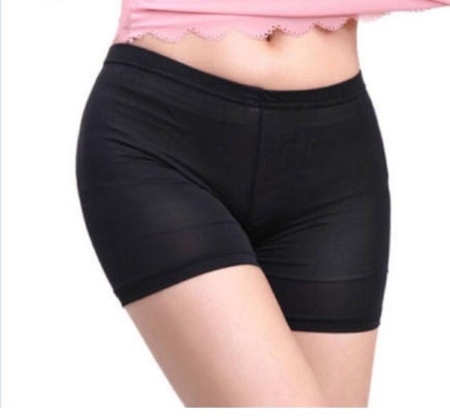 กางเกงชั้นในกันโป๊ สีดำ