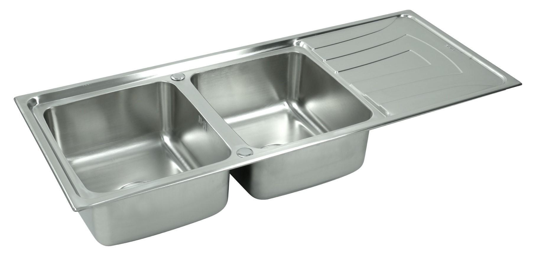 ซิงค์ล้างจานแบบ2หลุมมีที่พัก หลุมลึก