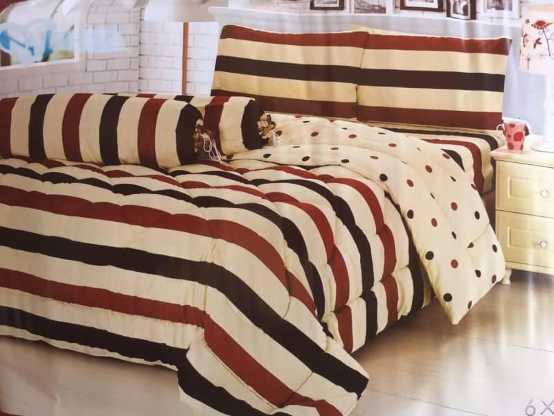 ชุดผ้าปูที่นอน ลายเส้น ลายตาราง ขนาด 6 ฟุต, 5 ฟุต, 3.5 ฟุต