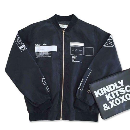 เสื้อแจ็คเก็ตผ้าร่มแขนยาว สีดำ