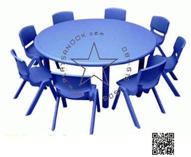 SPO-1009B โต๊ะกลมโต๊ะกลมพร้อมเก้าอี้8ตัว