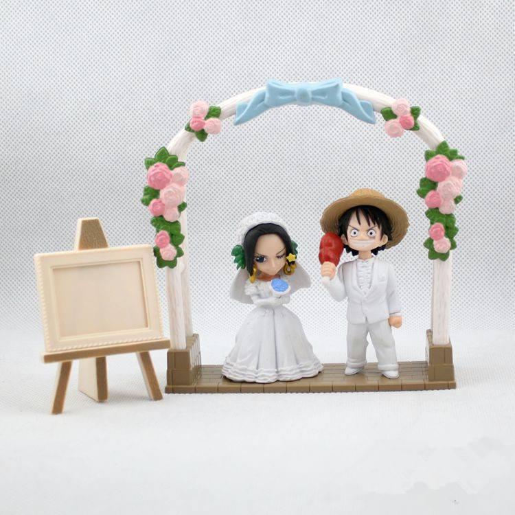โมเดลวันพีช Love ลูฟี่ โบอาร์ แต่งงาน wedding