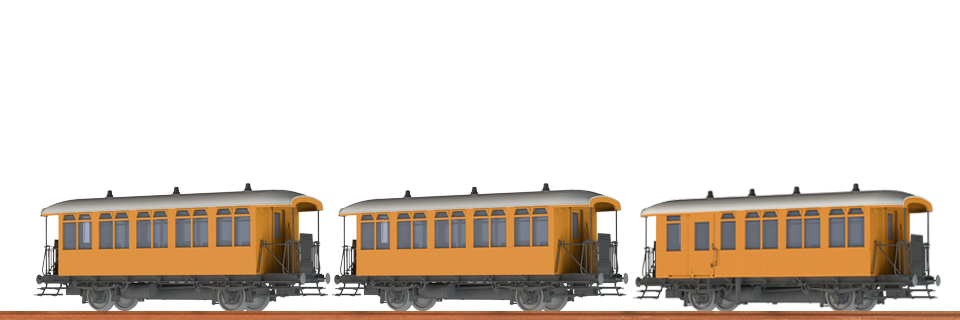 Brawa45633 Personal wagon 3 car set